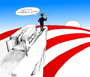 Political Cartoon: &quot;Move Everything Romney&quot; by Cartoonist Kaveh Adel