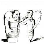 "Political Cartoon: ""Defined"" by Iranian American Cartoonist and Artist Kaveh Adel."