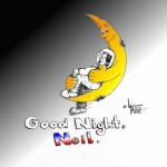 "Cartoon ""Good Night Neil"" by Iranian American Cartoonist Kaveh Adel"