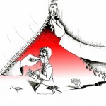 "Political Cartoon: ""Reality Poetry Zipper"" by Iranian American Cartoonist Kaveh Adel"