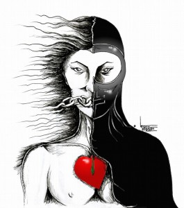 "Political Cartoon: ""Hijab Question"" by Iranian American Cartoonist Kaveh Adel"
