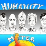 Political Cartoon:&quot;Humanity Meter&quot; by Iranian American Cartoonist Kaveh Adel