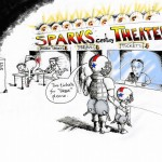 "Political Cartoon ""Rear Shot in Sparks Nevada"" by Iranian American Cartoonist Kaveh Adel"