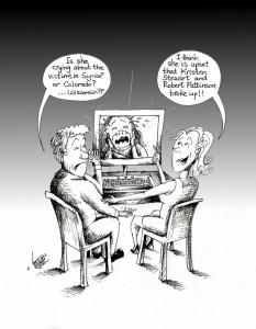 "Political Cartoon ""twilight of Humanity"" by Iranian American Cartoonist Kaveh Adel"