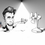 "Political Cartoon: ""Mitt Hits the Fan"" by Iranian American Cartoonist Kaveh Adel"