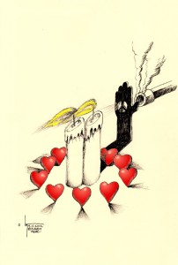 """Political Cartoon: """"Peace with 911"""" by Iranian American Cartoonist Kaveh Adel"""