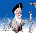 Political Cartoon &quot;Sakharov Prize 2012&quot; by Iranian American Cartoonist Kaveh Adel