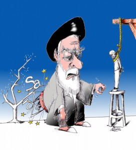 "Political Cartoon ""Sakharov Prize 2012"" by Iranian American Cartoonist Kaveh Adel"