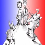 "Political Cartoon: ""Anything for a Vote"" by Iranian American Cartoonist Kaveh Adel"