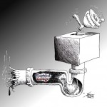 "Political Cartoon: ""Electoral College Vote Declogger"" by Iranian American Cartoonist Kaveh Adel"