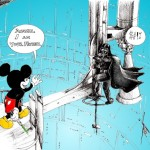 Cartoon: &quot;Mickey Mouse and Darth Vader&quot; by Iranian American Cartoonist Kaveh Adel