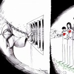 Political Cartoon: Nasrin Sotoudeh&#039;s Fading Music by Iranian American Cartoonist Kaveh Adel