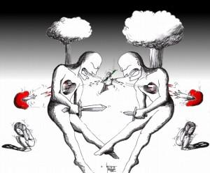 "Political Cartoon: ""Israel Palestine Peace upon Gaza"" by Iranian American Cartoonist Kaveh Adel"