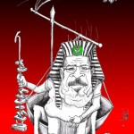 "Political cartoon: ""Morsi Democracy"" Iranian American Cartoonist Kaveh Adel"