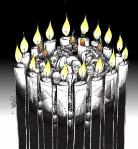 "Cartoon: ""Eyes of 16 Azars"" «از:کاوه عادل کارتون: «چشمهای ۱۶ آذرها by Cartoonist Kaveh Adel"