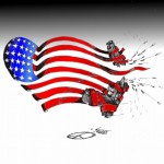 "Political cartoon: ""Remember Sandy Hook "" Iranian American Cartoonist Kaveh Adel"