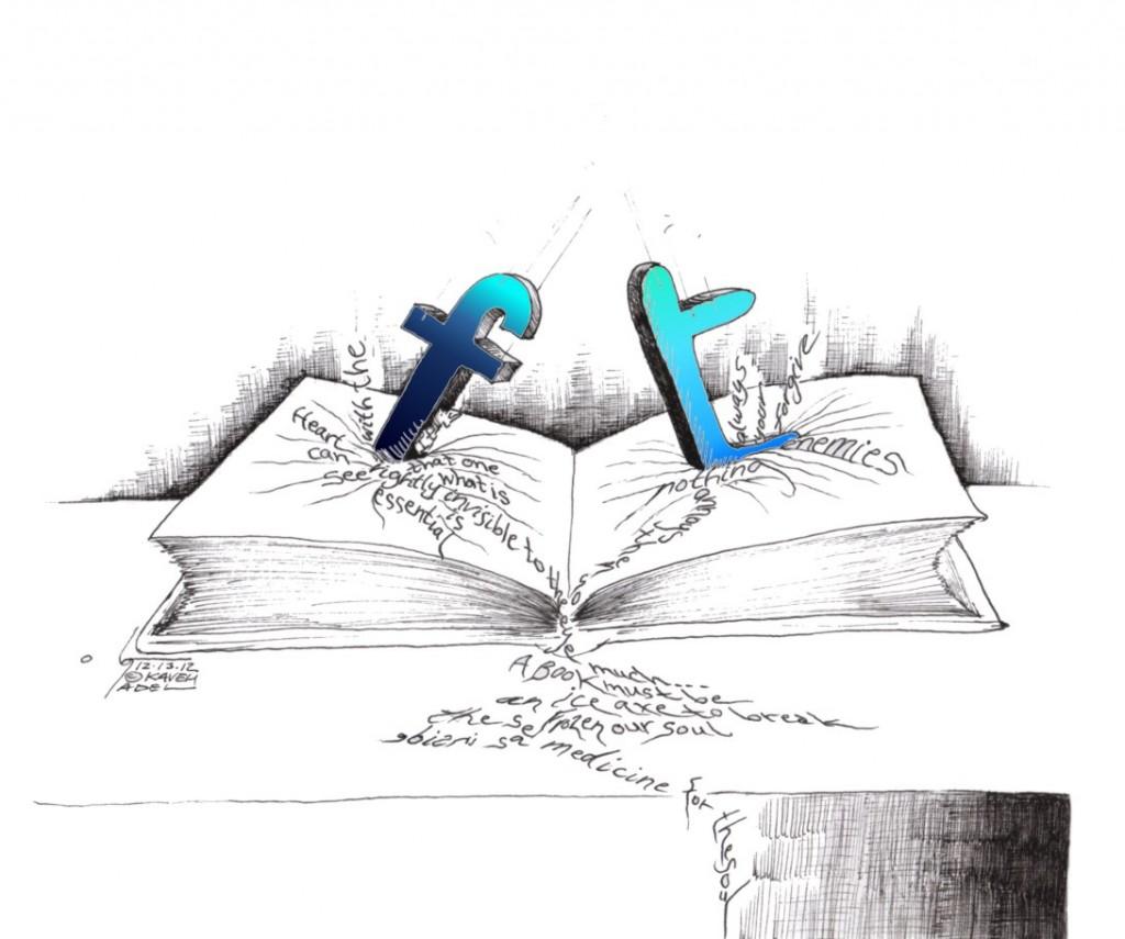 "Cartoon: ""Words Reduced"" by Iranian American Cartoonist Kaveh Adel"