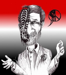 "political Cartoon: ""Ahmadinejad Shoe Reception"" by Iranian American Cartoonist Kaveh Adel"