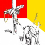 "Political Cartoon: ""Pope Unplugged"" By Kaveh Adel Iranian American Cartoonist. Pope resigns."