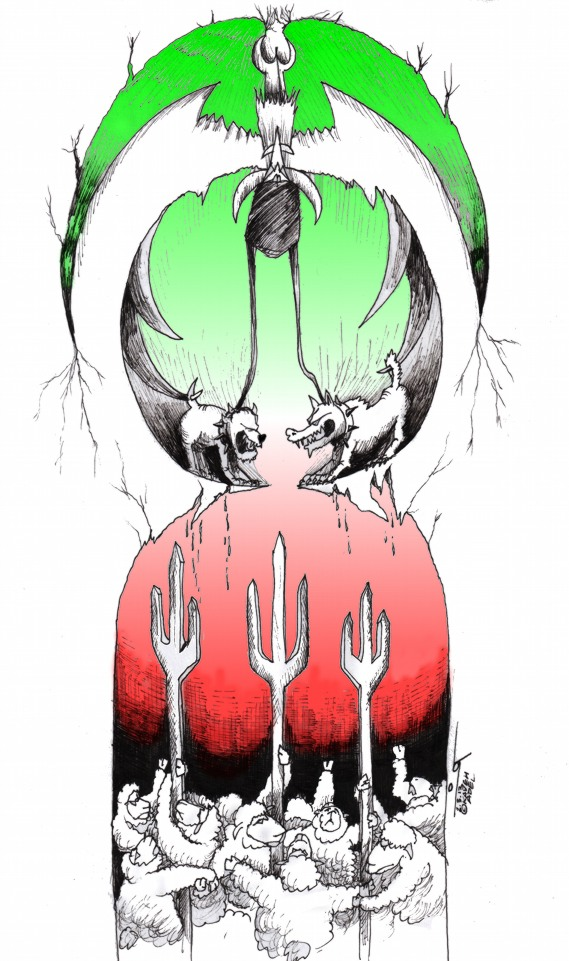 "Link to Political Cartoon: ""Sheep Shall Reign"" By Kaveh Adel Iranian American Cartoonist"