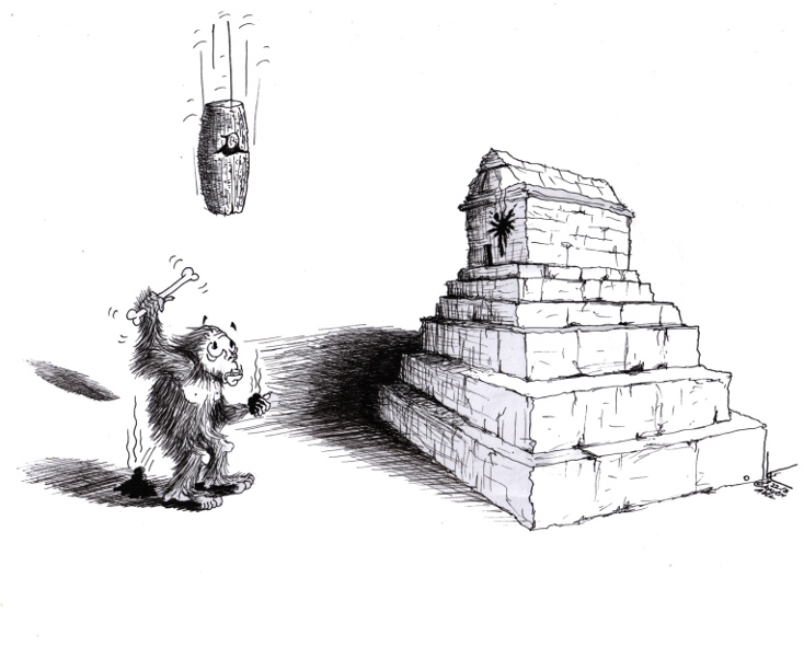 "Political cartoon: ""Cyrus the Great Answers"" By Iranian American Cartoonist Kaveh Adel"