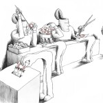 Political Cartoon: &quot;Fe Male Vote&quot; By Kaveh Adel Iranian American Cartoonist