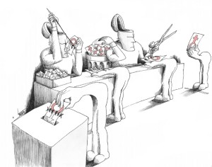 "Political Cartoon: ""Fe Male Vote"" By Kaveh Adel Iranian American Cartoonist"