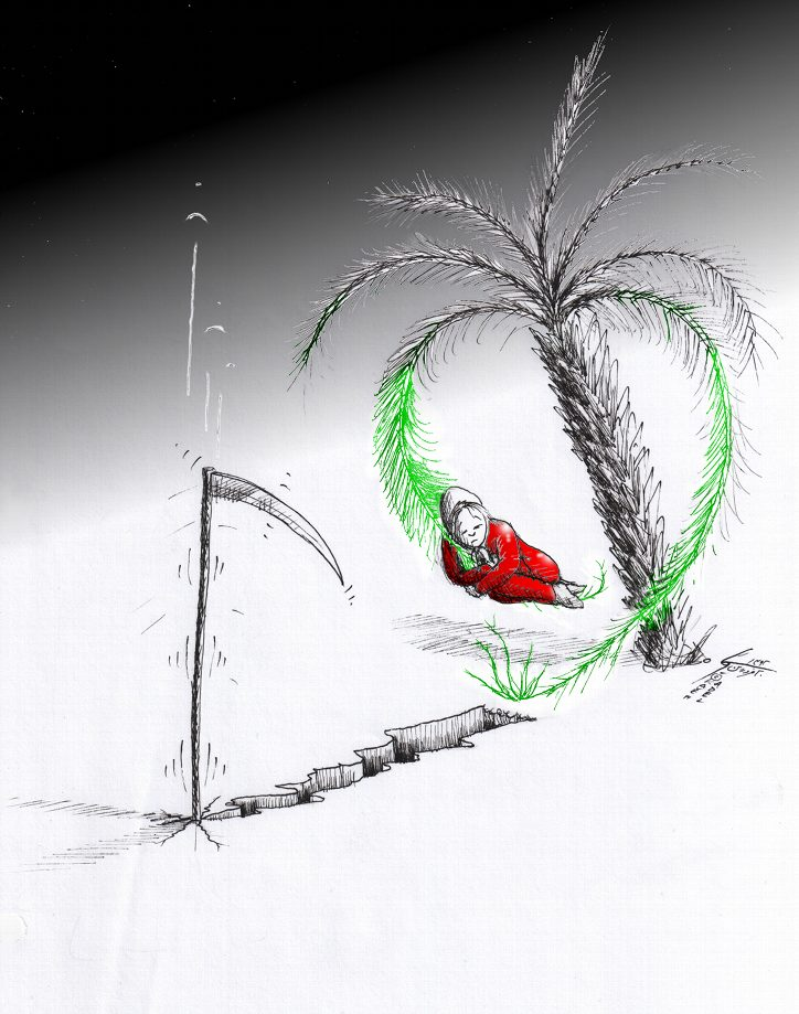"Link to Political Cartoon: ""Bushehr's Palm Tree of Life"" By Kaveh Adel Iranian American Cartoonist"