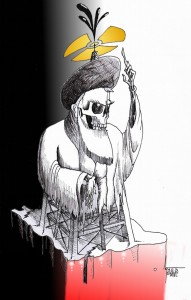 """Political Cartoon: """"Supreme NucleOilollah of Iran"""" By Kaveh Adel Iranian American Cartoonist"""