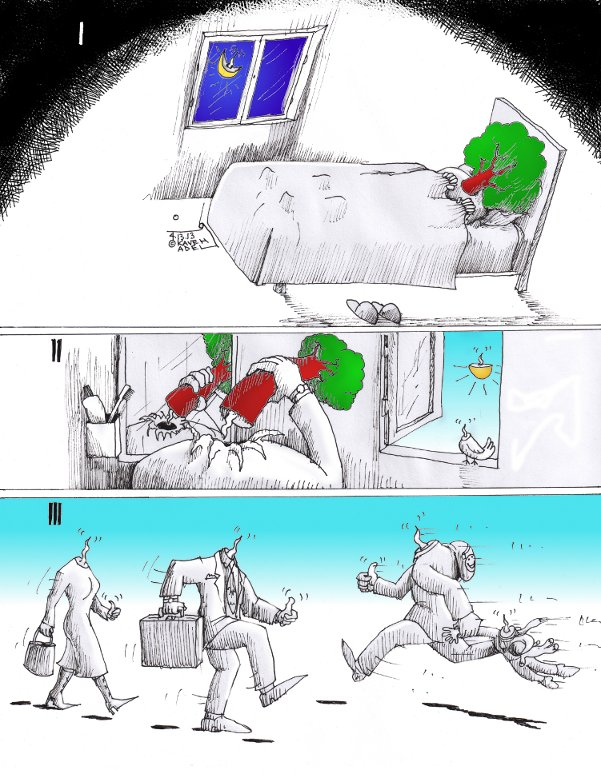 "Link to Political Cartoon: ""Uprooted"" By Kaveh Adel Iranian American Cartoonist"
