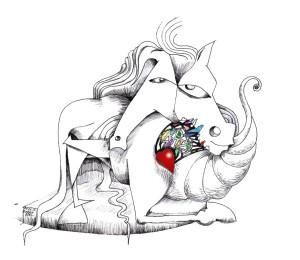 PicassDalGaudoya A tribute to Spain by Kaveh Adel Cartoonist