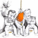 "Political Cartoon: ""Vulture Baffled"" By Kaveh Adel Iranian American Cartoonist"