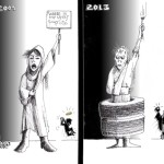Political Cartoon: &quot;Where is My Vote&quot; By Kaveh Adel Iranian American Cartoonist