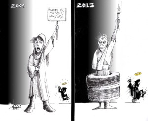 "Political Cartoon: ""Where is My Vote"" By Kaveh Adel Iranian American Cartoonist"