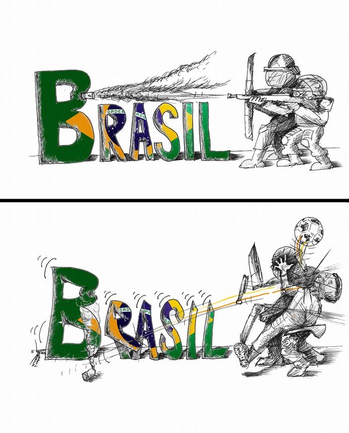 "Cartoon: ""Brazil Speaks"" By Kaveh Adel Iranian American Cartoonist"
