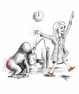"Political Cartoon: ""Wendy Davis Filibuster"" By Kaveh Adel Iranian American Cartoonist"