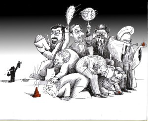 "Political Cartoon: ""Pile of Candidates"" By Kaveh Adel Iranian American Cartoonist"