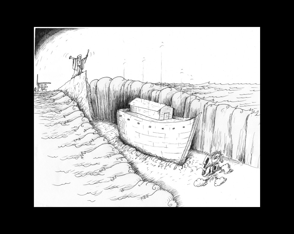 "Cartoon: ""Divine Temporal Miracle Fail"" By Kaveh Adel Cartoonist"