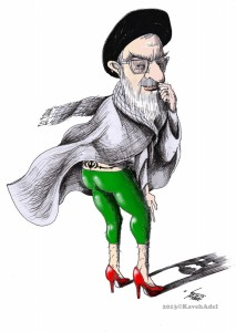 "Political Cartoon: ""Khamenei Leggings Fashion"" By Kaveh Adel Iranian American Cartoonist"