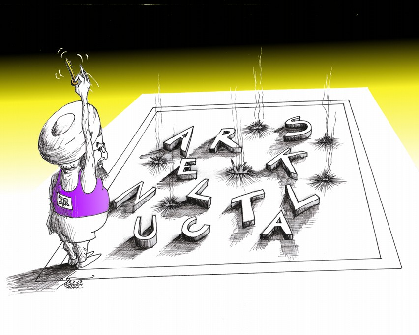 "Political Cartoon: ""Rohani Nuclear Gymnastics"" By Kaveh Adel Iranian American Cartoonist"