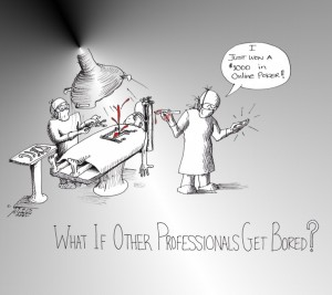 "Political Cartoon: ""Bored professionals"" By Kaveh Adel Iranian American Cartoonist."