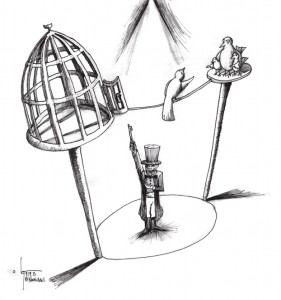 "Cartoon: ""Circus"" By Cartoonist Kaveh Adel"