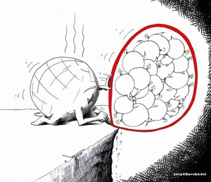 "Political Cartoon: ""Red Line"" By Kaveh Adel Iranian American Cartoonist"