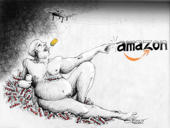 "Political Cartoon: ""The Destruction of Adam "" By Kaveh Adel Iranian American Cartoonist."