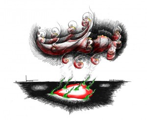 "Cartoon: ""Heart of Sanaz Nezami"" By Kaveh Adel Iranian American Cartoonist"