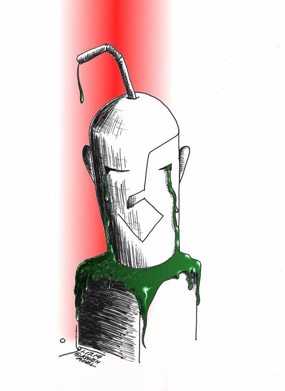 "Political Cartoon: ""Human consumerism"" By Kaveh Adel Iranian American Cartoonist"