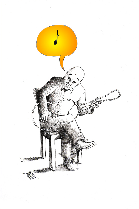 "Political Cartoon: ""Playing Music"" By Kaveh Adel Iranian American Cartoonist"