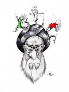 "Political Cartoon: ""Stealthy Freedom"" By Kaveh Adel Iranian American Cartoonist."