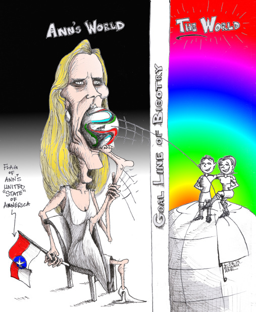 "Cartoon ""Stuff it Ann Coulter"" By Cartoonist, Kaveh Adel"