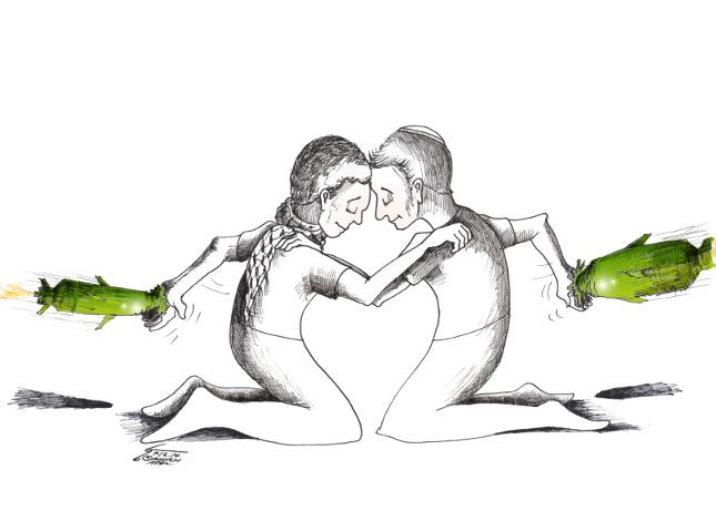 "Political Cartoon: ""No Chosen People"" By Kaveh Adel Iranian American Cartoonist"